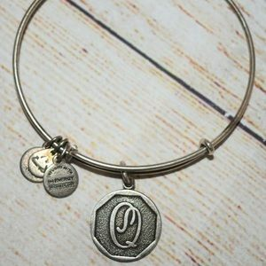 New Alex and Ani Silver Letter Q Charm Bracelet